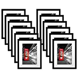 Americanflat 12 Pack - 11x14 Black Picture Frames - Made to Display Pictures 8x10 Inches with Mats or 11x14 Inches Without Mats - Wide Moldings - Wall Mounting Material Included