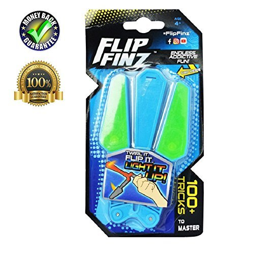 Flip Finz Rotary Butterfly Knife Color Decompression toys Children's interactive toys(Blue)