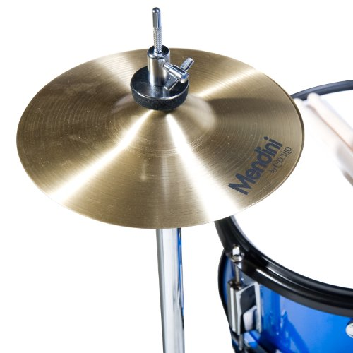 Mendini 5 Drum Set, Blue, 16