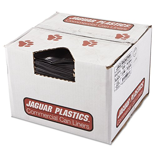 JAGR4347HH - Jaguar Plastics R4347HH Black Low Density 2.0 Mil Repro Can Liners, 56 Gallons