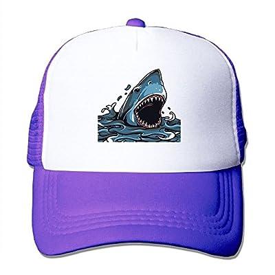 Shark Attack Adjustable Snapback Baseball Cap Custom Mesh Trucker Hat by Huishe1