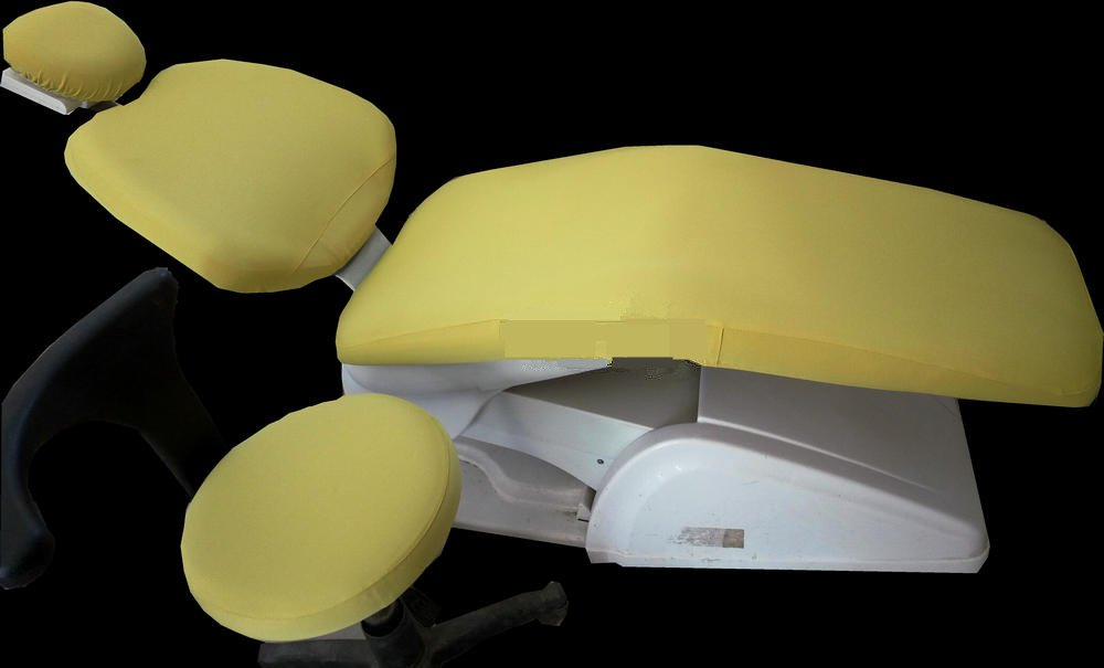 1 Set Dental Dentist Chair Cover Sleeves Protector Washable Dentist Cushion Yellow Color