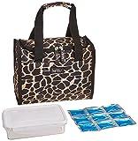 Nicole Miller 11' Insulated Lunch Box Portable Cooler Bag - Giraffe