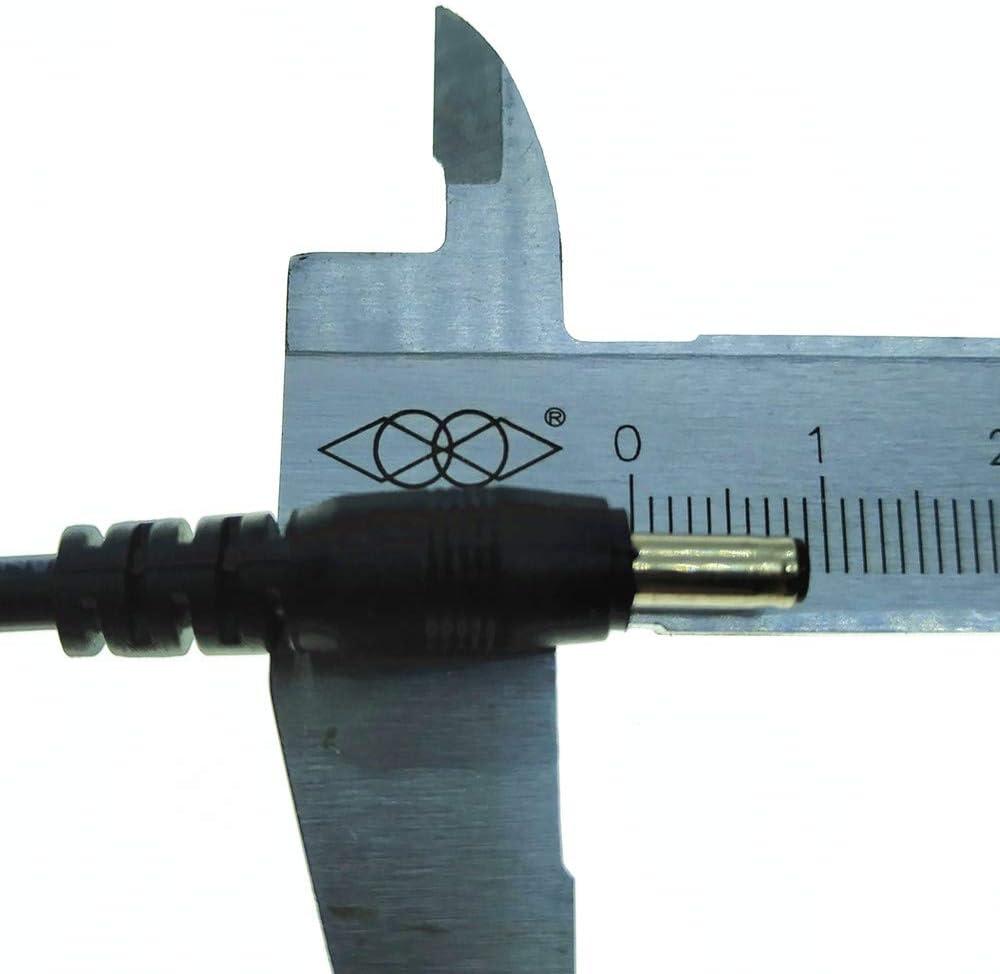 DZYDZR Lot de 2 c/âbles adaptateur DC 2,1//5,5 mm vers prise m/âle 1,35//3,5 mm Noir 22 AWG Fil de cuivre 1 m