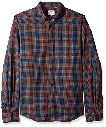 Ben Sherman Men's Heritage Check Shirt, Burnt Orange, Medium