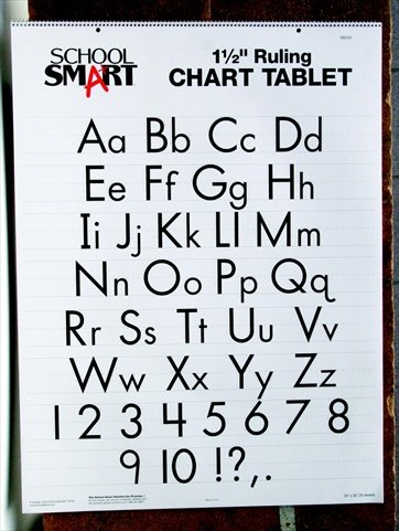 School Smart Chart Tablet, 24 x 32 Inches, 1-1/2 Inch Ruling, 1/2 Inch Skip Line, 25 Sheets (School Lined Paper)