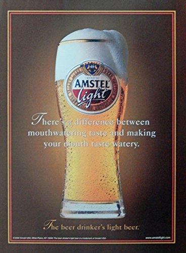 amstel-light-beer-vintage-print-ad-color-illustration-drinkers-beer-original-magazine-art
