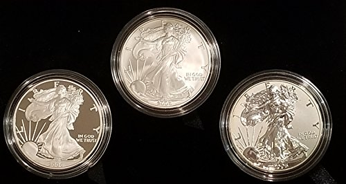 2006 Various Mint Marks American Eagle Three Coin Set 20th Anniversary Original Mint Packaging ()