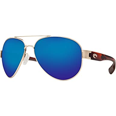 39100dbbc6b Costa Del Mar South Point Mens Polarized Rose Gold w  Light Temples Blue  Mirror