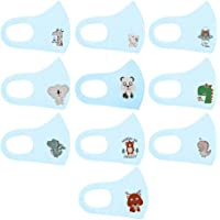 HomeMals 10PC Kids Face Covering Child Children Baby Covering Face Bandanas Washable Reusable Breathable Safety Protect