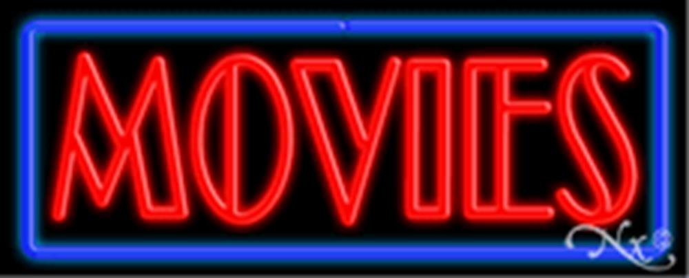 13x32x3 inches Movies NEON Advertising Window Sign