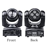 Double Face (4 Lights and LED Spot) DJ Stage LED Moving Head Light Two Effect Disco Lighting, RGBW 4 in 1 LED DMX512 Head-Moving Light for Disco BAR By U`King (Double Function) ...