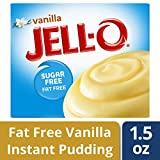 Jell-O Sugar-Free Instant Pudding & Pie Filling, Vanilla, 1.5 oz