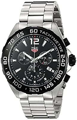 Tag Heuer Men's 'Formula 1' Swiss Quartz Stainless Steel Dress Watch, Color:Silver-Toned (Model: CAZ1010.BA0842) by TAG Heuer
