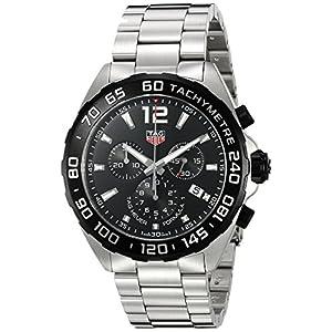Tag Heuer Men's 'Formula 1' Swiss Quartz Stainless Steel Dress Watch, Color:Silver-Toned (Model: CAZ1010.BA0842)