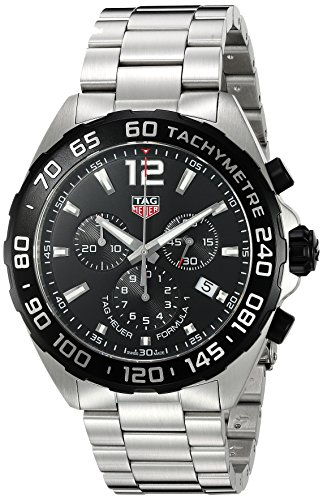 (Tag Heuer Men's 'Formula 1' Swiss Quartz Stainless Steel Dress Watch, Color:Silver-Toned (Model: CAZ1010.BA0842))
