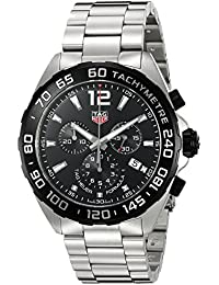 ... Watches : TAG Heuer. Mens Formula 1 Swiss Quartz Stainless Steel Dress Watch, Color:Silver-