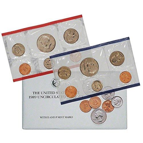 1989 Various Mint Marks US Uncirculated P&D Mint Set Original Uncirculated ()
