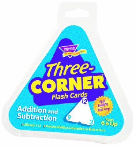 Trend Enterprises Inc Three-Corner Flash Cards: Addition and Subtraction