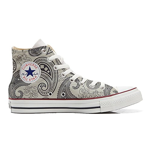 Schuhe personalisierte Paisley Light Handwerk Schuhe Customized All Star Hi Converse FpxqXITT