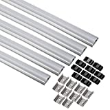 uxcell 5Pcs CN-607 1m Length 25mmx9mm LED Aluminum Channel System w Cover for LED Strip Light