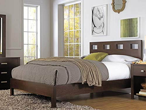 - Modus Furniture RV26D6 Riva Platform Storage Bed, California King, Chocolate Brown