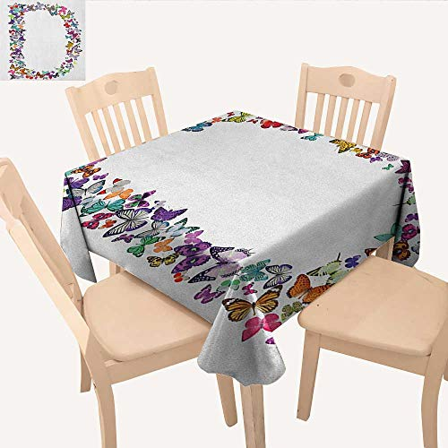 longbuyer Letter D Dinning Tabletop Decoration Magical Creatures Flying Monarch Butterflies Fragility Grace Artistic Collection Dinning Table Covers Multicolor W 70