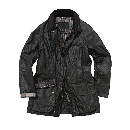 TangChuan Black Flight Aviator Bomber Ladies Beadnell Waxed Jacket For Women by TangChuan