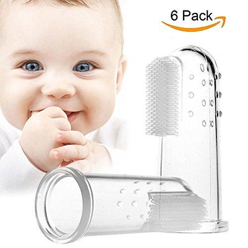 Unicoco Cepillo de Dientes de Los Niños Silicona Dedo Cepillo 6 unidades Mascota Bebé: Amazon.es: Bebé