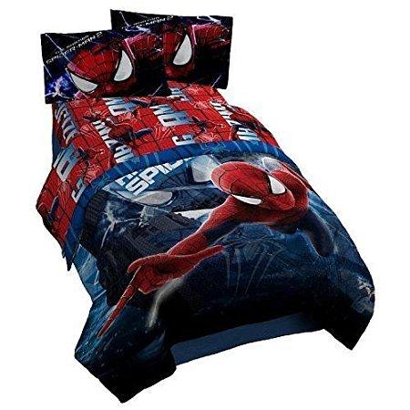 Spiderman Twin Comforter, Sheet Set, Sham & Bed Skirt (6 Piece Bed In A Bag) + HOMEMADE WAX MELT