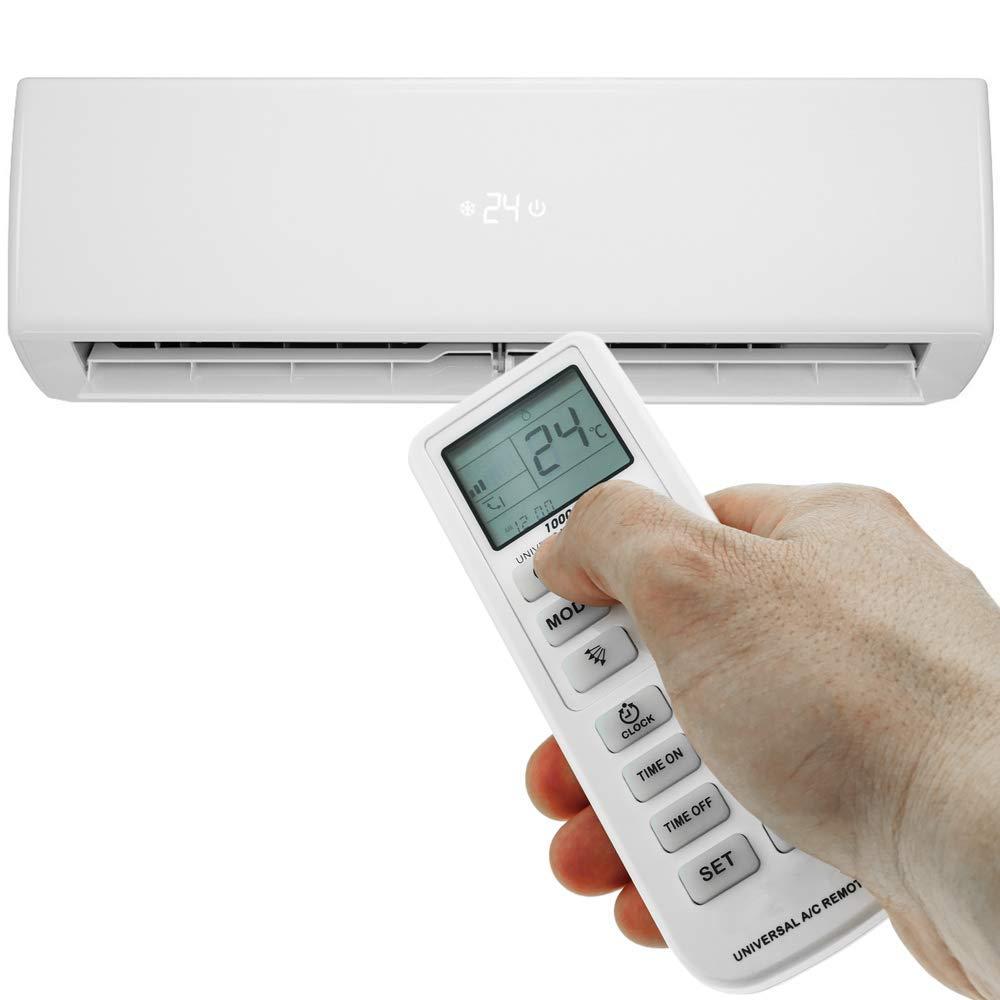 Control Remoto para Aire Acondicionado calefacci/ón y climatizaci/ón Mando a Distancia Universal BeMatik