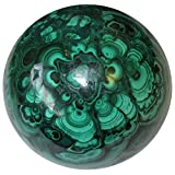 Satin Crystals Malachite Ball 2.3'' Collectible Mother Nature's African Art Masterpiece Green Sphere Stone C06