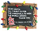 MLB St. Louis Cardinals Resin Chalkboard Sign Ornament, Red, One Size