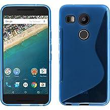 Silicone Case for Google Nexus 5X - S-Style blue - Cover PhoneNatic + protective foils