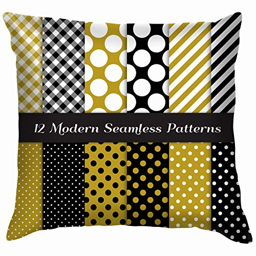 Jumbo Polka Dot Gingham Stripes S Holidays Throw Pillows Covers Accent Home Sofa Cushion Cover Pillowcase Gift Decorative 12X12 -