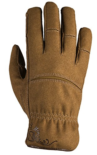 - Noble Outfitters Working Waterproof and Fleece Lined Womens Dakota Work Glove Horseback Tough Heavy Duty Gloves Tobacco (Small)