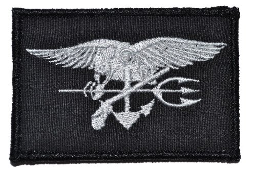 - SEAL Trident 2x3 Morale Patch - Black