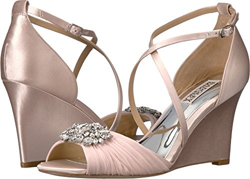 Women's Badgley Mischka Tacey Embellished Strappy Wedge Sand