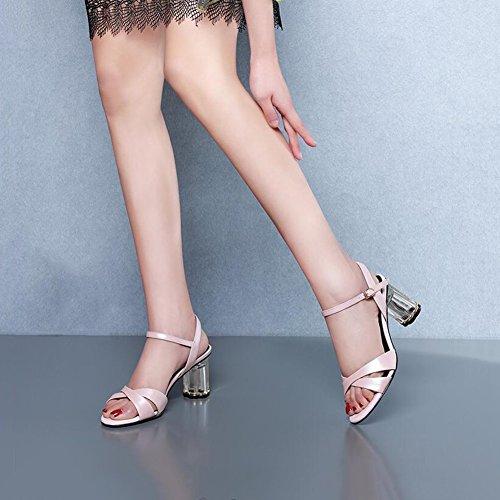 Sandales Printemps Blanc DALL Et Escarpins taille EU 5 De Talons 757 Talon Haut 4 UK Cm 37 Rose Été toed Chaussures Open Hauts 5 Ly Couleur Pour Grossier CN37 Femmes 7 1vxwO1