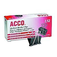Clips de carpetas ACCO, mediano, 1 caja, 12 clips /caja (72050)