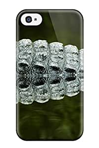 Hot Snap-on Crocordile Tail Hard Cover Case/ Protective Case For Iphone 4/4s