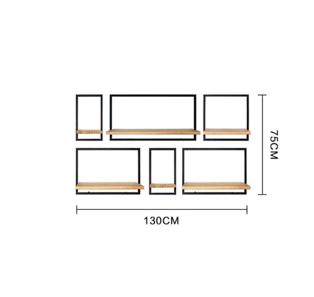ウォールシェルフ/モダンシンプルソリッドウッド壁にマウントされたベッドルームリビングルームシェルフ。 (三 : 2) B07DBVL6DW  2