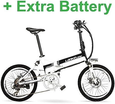 LANKELEISI Bicicleta eléctrica Potente Grande G550, Bicicleta ...