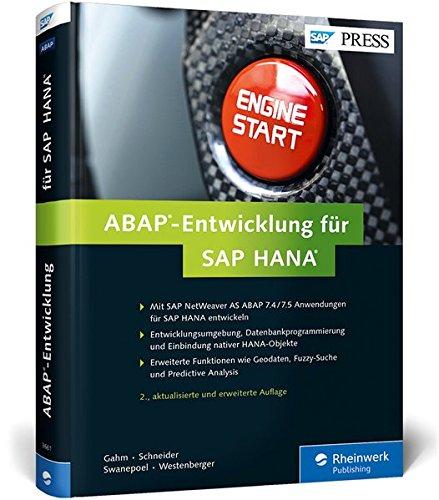 ABAP-Entwicklung für SAP HANA (SAP PRESS) Gebundenes Buch – 30. November 2015 Hermann Gahm Thorsten Schneider Eric Westenberger Christiaan Swanepoel