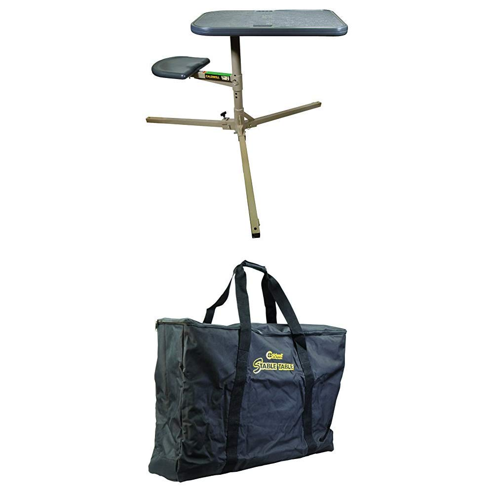 Caldwell Stable Table with Ambidextrous Design, 360 Degree Rotation Stable Table Carry Bag with Heavy Duty Construction and Inner Compartment for Outdoor, Range, Shooting and Cleaning by Caldwell
