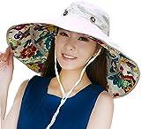 iHomey Packable Extra Large Brim Floppy Sun Hat Reversible UPF 50+ Beach Sun Bucket Hat