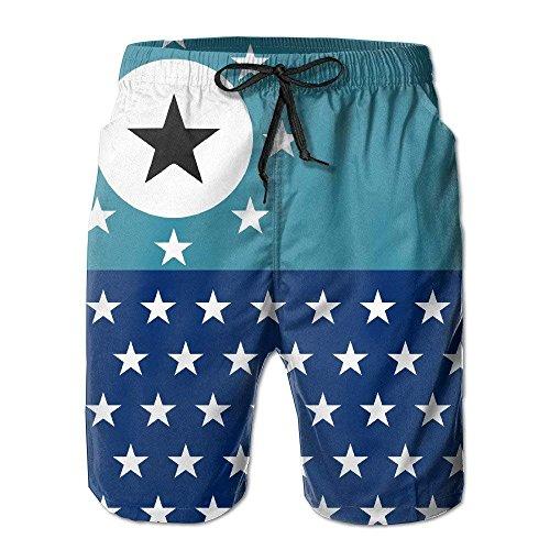 (HONGZHESM Men's Swim Trunks Star Symbol Pacific Ocean Convenient Board Shorts XX-Large)