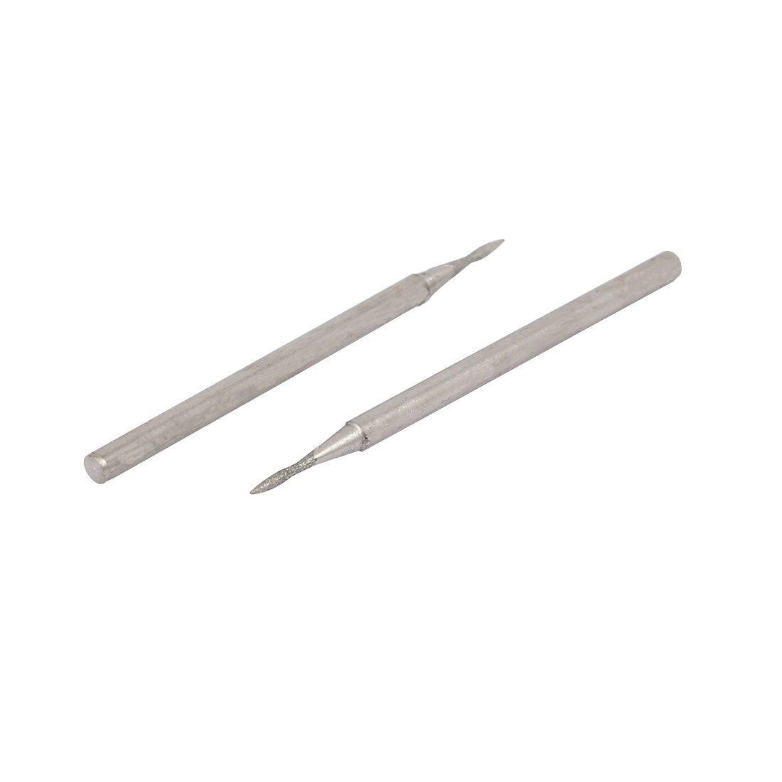 DealMux 2.35mm Schaft 0.8mm Spitze Stone Head Schleifen Bohrer Diamant-Schleifstift 5pcs
