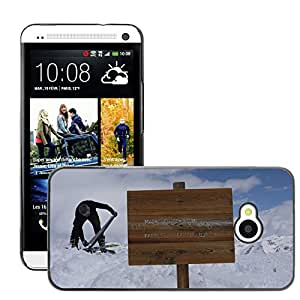 Hot Style Cell Phone PC Hard Case Cover // M00309616 Ski Tour Alpine Outdoor Nature // HTC One M7