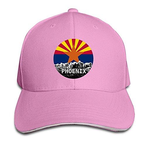 Phoenix Skyline And Arizona Flag Baseball Caps By Cnlowter